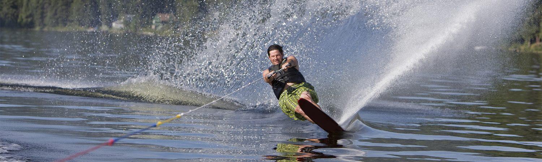 Man on waterski in a lake